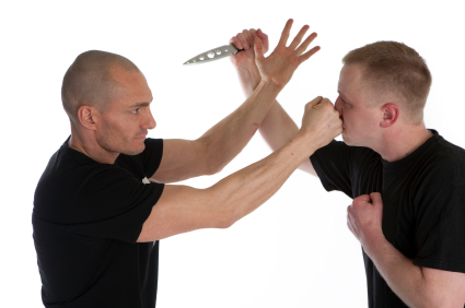 Empty Hand Defense Against a Knife Attack