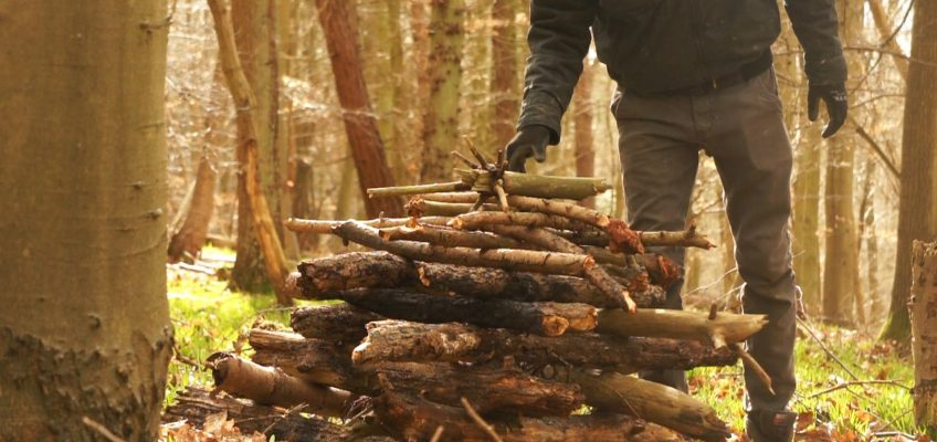 Log Cabin Fire Build