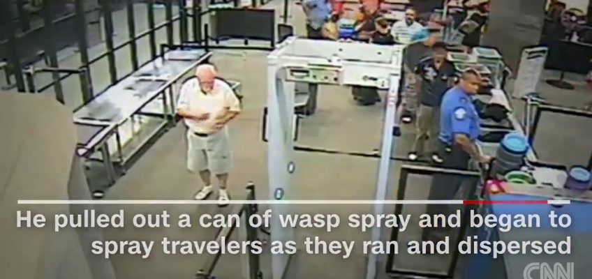 Attack on TSA Agents (Graphic Video)