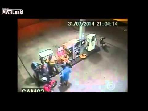CCTV Attempted Armed Robbery (Video)