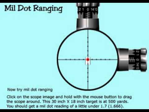 Using a Mil Dot Scope to Find Range (VIDEO)
