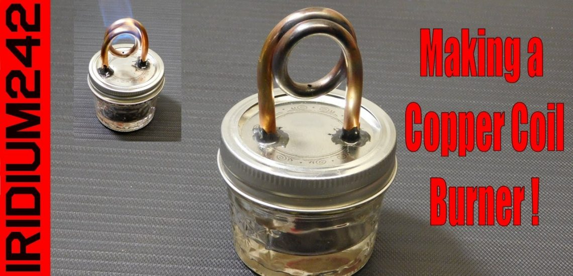 DIY Copper Coil Alcohol Stove Video