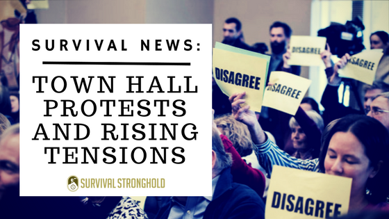 Survival News: Town Hall Protests and Rising Tensions