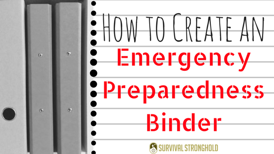 Creating an Emergency Preparedness Binder