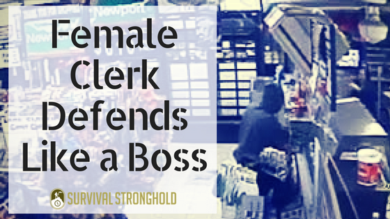 Female Clerk Defends Like a Boss (Video)