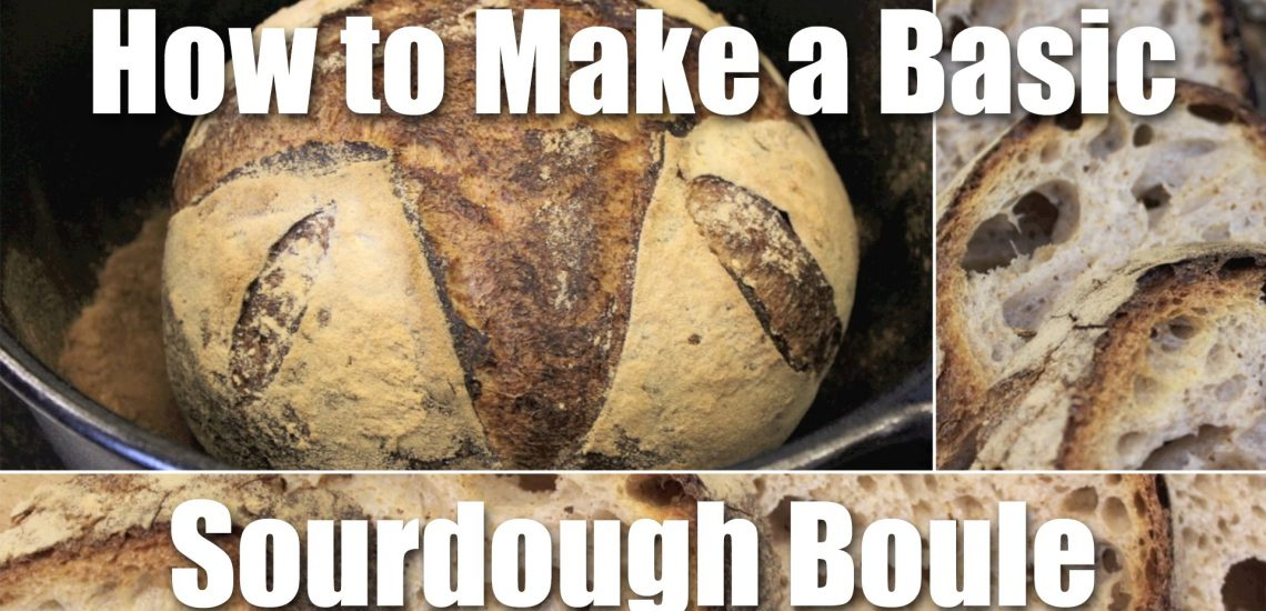 How to Make a Basic Sourdough Loaf (Video)