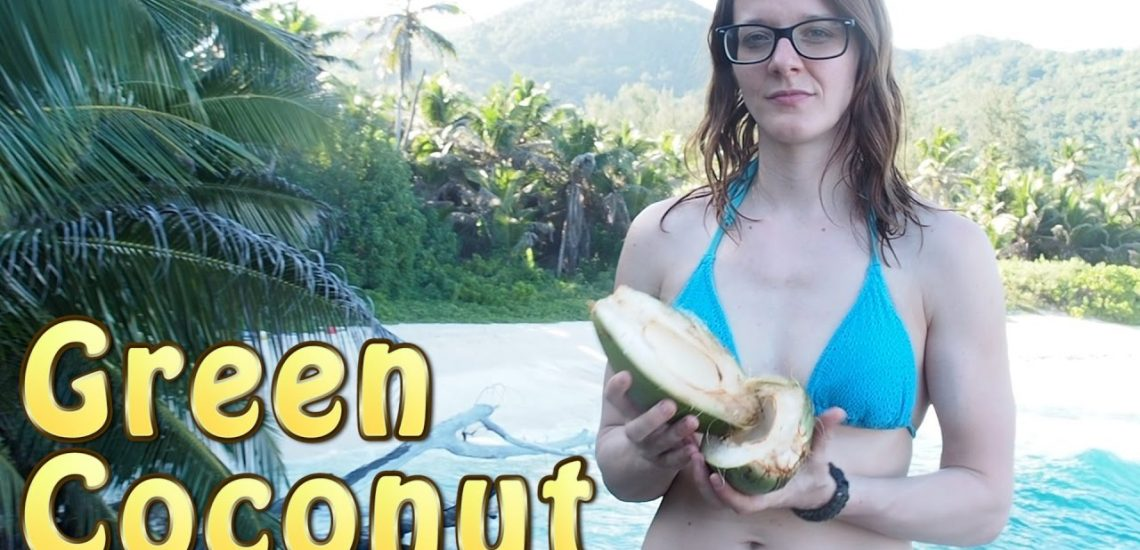 Woman Opens Coconut Without Tools (Video)